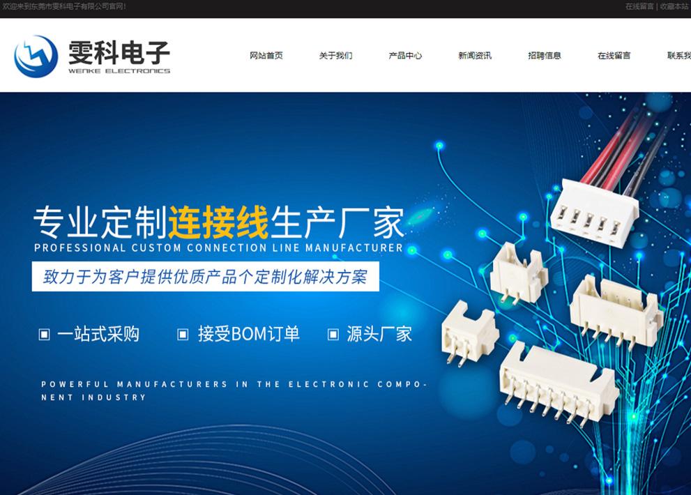 雯科電子官方網站建設項目上線